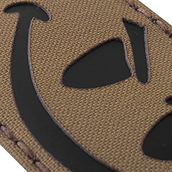 Tactical Freaky Airsoft Morale Patch 6 Coyte Brown Infrared Evil Smiley 3.5x2 Tan Arid Tactical Morale Hook-and-Loop Patch