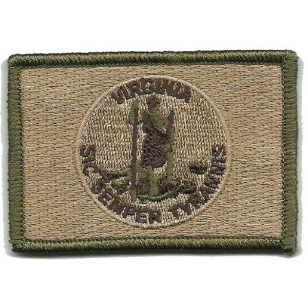 Gadsden and Culpeper Airsoft Morale Patch 1 Virginia Tactical Flag Patch (Sic Semper Tyrannis)