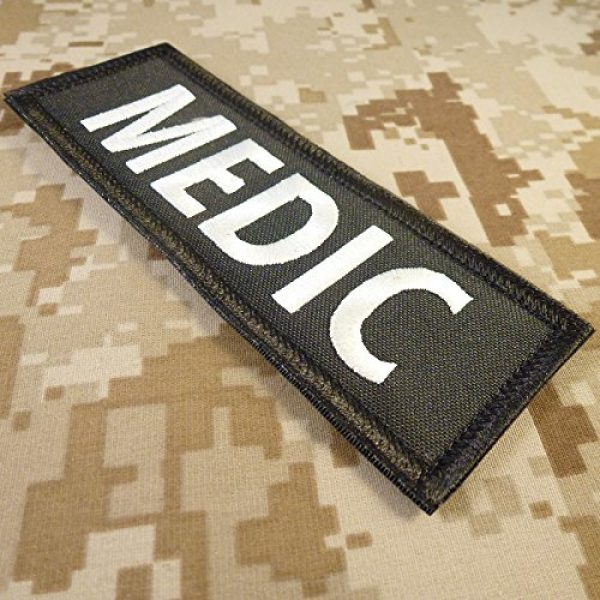 """LEGEEON Airsoft Morale Patch 2 LEGEEON Medic 5""""x2"""" EMT EMS Paramedic Body Armor Tactical Embroidered Nylon Fastener Patch"""
