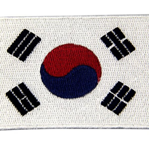 EmbTao Airsoft Morale Patch 2 South Korea Flag Embroidered Korean National Emblem Iron On Sew On Patch