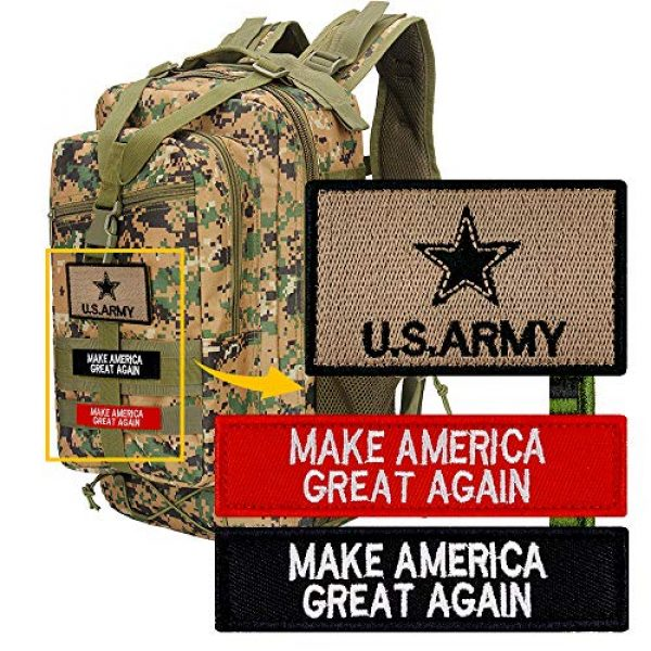JumpyFire Airsoft Morale Patch 6 JumpyFire Tactical USA Army Velcro Patch, 4 PCS Make America Great Again Embroidered Military Morale Patches for Backpack Hat Jacket Jeans Uniform