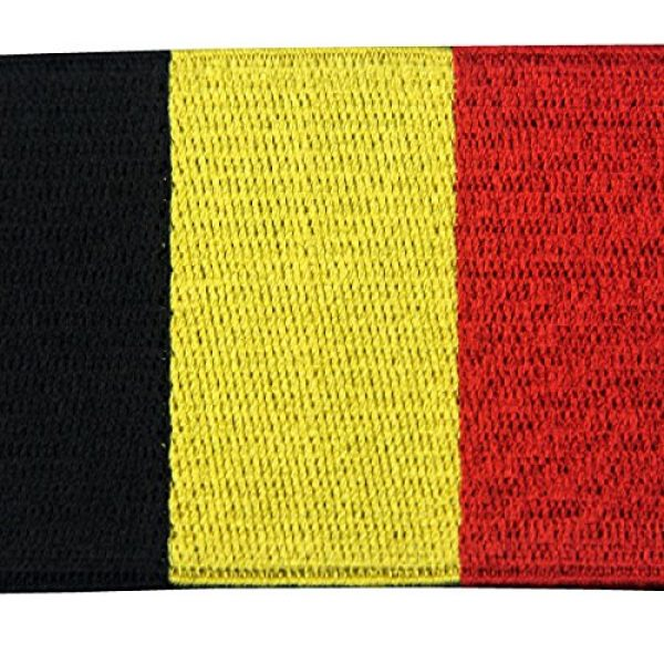 EmbTao Airsoft Morale Patch 2 Belgium Flag Embroidered Belgian National Emblem Iron On Sew On Patch