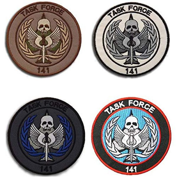 Kseen Airsoft Morale Patch 3 Task Force 141 Logo Call of Duty Embroidered Tactical Patches SAS Badge Emblem Morale Applique with Hook&Loop Fastener for Sew On Military Jackets Caps Rucksacks (Blue)