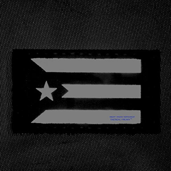 Tactical Freaky Airsoft Morale Patch 2 Multicam Infrared IR Puerto Rico Cuba Flag 3.5x2 IFF Tactical Morale Fastener Patch
