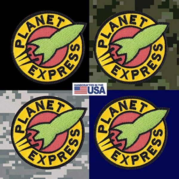 Tactical Patch Works Airsoft Morale Patch 3 Planet Express Futurama Inspired Art Patch