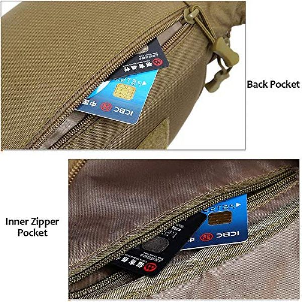 ACOMOO Tactical Pouch 3 ACOMOO Tactical Fanny Pack Portable Waist Bum Bag for Men Women Black