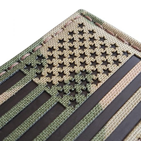 Tactical Freaky Airsoft Morale Patch 4 Multicam Infrared IR USA American Reversed Flag 3.5x2 IFF Tactical Morale Fastener Patch