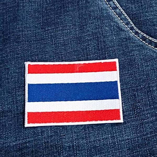 Heavens Tvcz Airsoft Morale Patch 4 Heavens Tvcz Flag Embroidered for Men Teens Women Charms Morale Patch with Hook and Loop Travel Thai Patriotic Scrapbook MC Biker Motorcycle Jeans Women Shoulder White Border Emblem