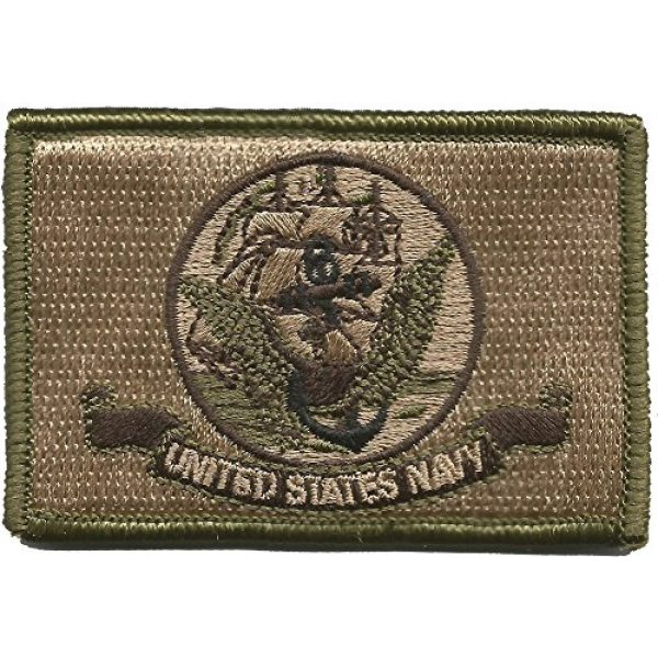 Gadsden and Culpeper Airsoft Morale Patch 1 Navy Flag Tactical Patch - Military