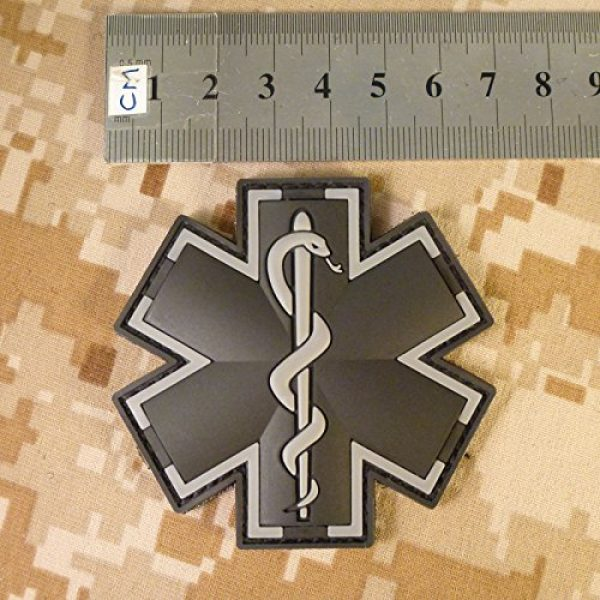 LEGEEON Airsoft Morale Patch 4 LEGEEON ACU Black EMS EMT Medic Paramedic Star of Life Morale Tactical PVC 3D Hook-and-Loop Patch