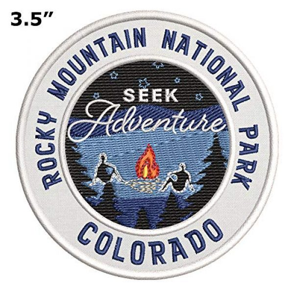 Appalachian Spirit Airsoft Morale Patch 2 Seek Adventure at Rocky Mountain National Park Embroidered Premium Patch DIY Iron-on or Sew-on Decorative Badge Emblem Vacation Souvenir Travel Gear Clothes Appliques