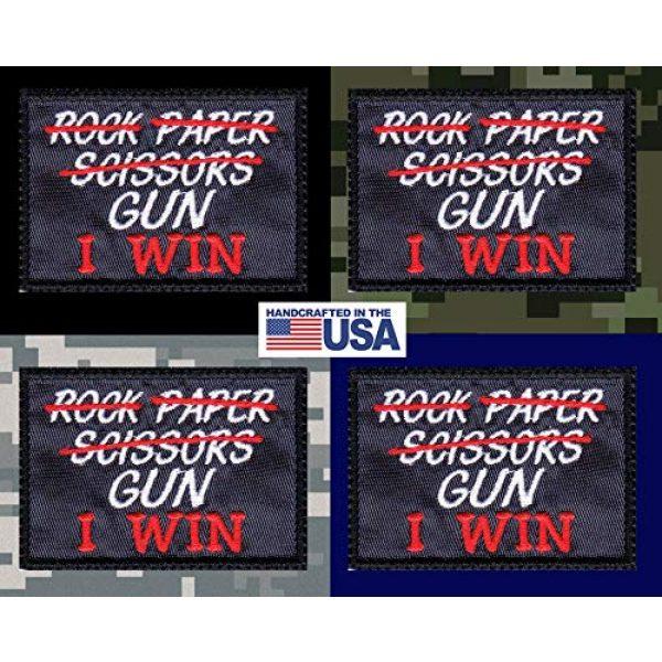 Tactical Patch Works Airsoft Morale Patch 3 Rock Paper Scissors Gun I Win Patch