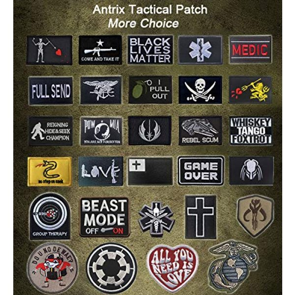 TOWEE Airsoft Morale Patch 6 Mixed Tactical Patch Set, 3 Percent Molon Labe Pirate Dont Tread On Me Tactical Tag Patch Embroidered Border Military Emblem Morale Patches