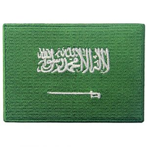 EmbTao Airsoft Morale Patch 1 Saudi Arabia Flag Embroidered Arabian Emblem Iron On Sew On Arab National Patch