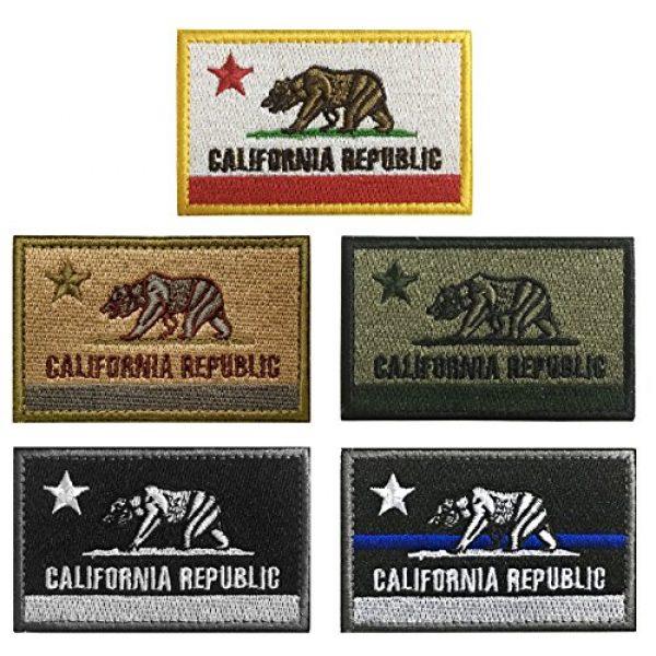 WZT Airsoft Morale Patch 1 WZT 5 pcs California Tactical Patch - Morale Military Patches