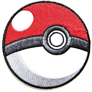 Patch Airsoft Morale Patch 1 Pokeball Pokemon Cartoon Game Logo Girl Kid Baby Jacket T shirt Patch Sew Iron on Embroidered Symbol Badge Cloth Sign Costume By Prinya Shop