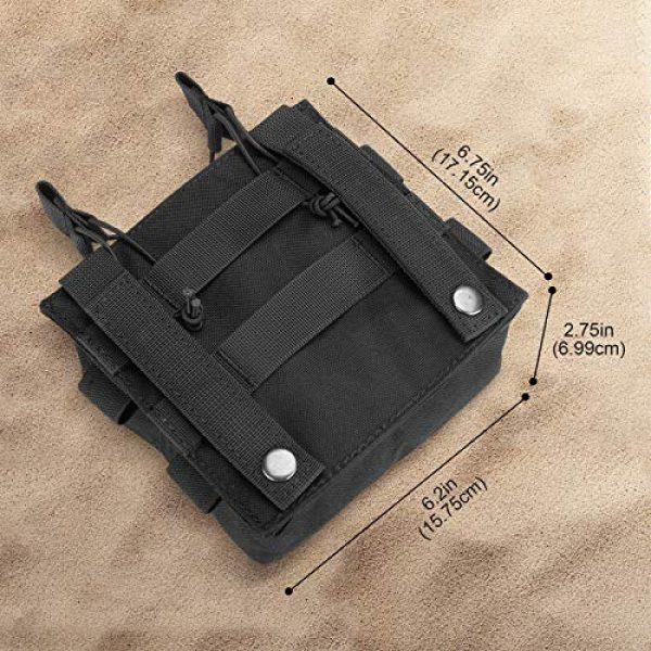 ProCase Tactical Pouch 7 ProCase Tactical Admin Molle Pouch with 2 Rifle Magazine Pouch for M4 G36 HK416 AR AK 5.56/7.62 mm Magazines -Black