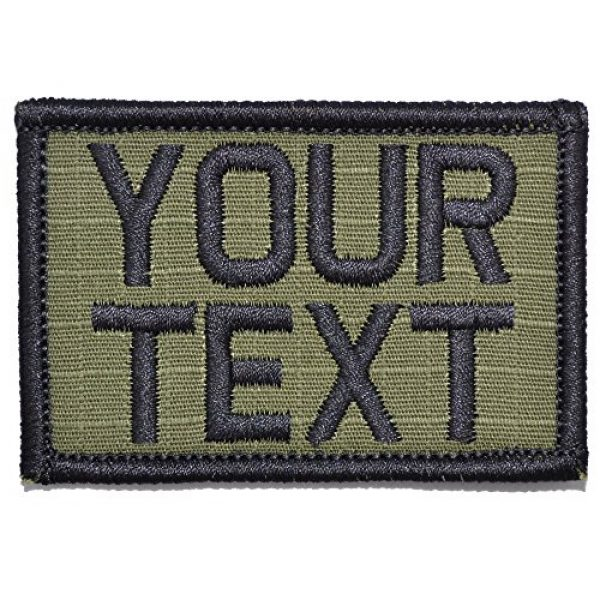 Tactical Gear Junkie Airsoft Morale Patch 1 Customizable Text Patch - 2x3 Patch - Olive Drab