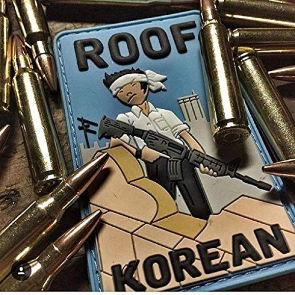 """Violent Little Machine Shop Airsoft Morale Patch 3 """"Roof Korean"""" Morale Patch by Violent Little Machine Shop - Tactical Velcro PVC"""
