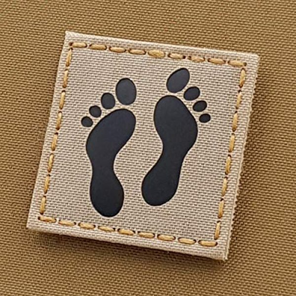 Tactical Freaky Airsoft Morale Patch 1 IR Jolly Green Squadron Desert Sand Feet 2x2 SAR CSAR Tan USAF Pararescue Tactical Morale Touch Fastener Patch