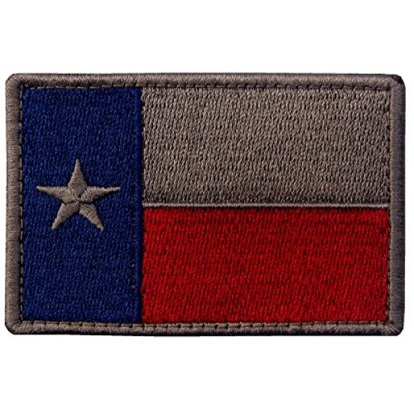 EmbTao Airsoft Morale Patch 1 EmbTao Texas Embroidered Tactical Fastener Hook&Loop Patch - Blue & Red