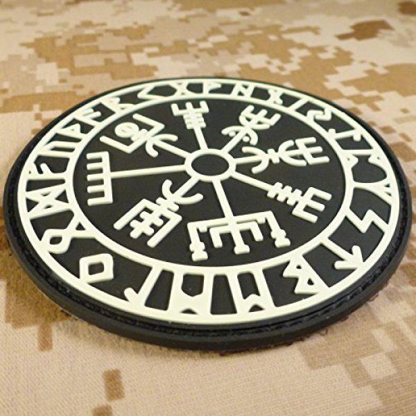 LEGEEON Airsoft Morale Patch 4 LEGEEON Glow Dark Vegvisir Viking Compass Norse Rune Morale Tactical PVC Rubber 3D Fastener Patch