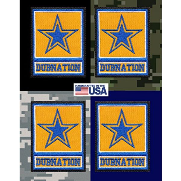 Tactical Patch Works Airsoft Morale Patch 3 Warriors Dubnation Inspired Art Golden State Army Parody Patch