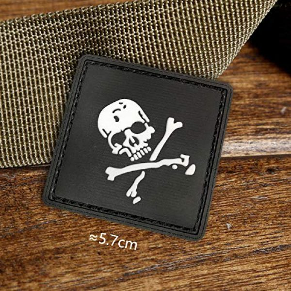 Morton Home Airsoft Morale Patch 4 Morton Home Set I Airsoft Paintball Tactical Military Rubber Badges PVC Rubber 3D Morale Patch (Black Skull Cross)
