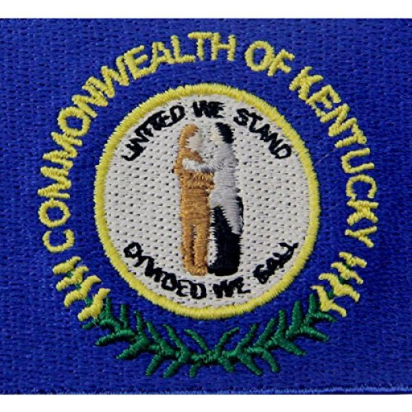 EmbTao Airsoft Morale Patch 2 Kentucky State Flag Embroidered Emblem Iron On Sew On KY Patch