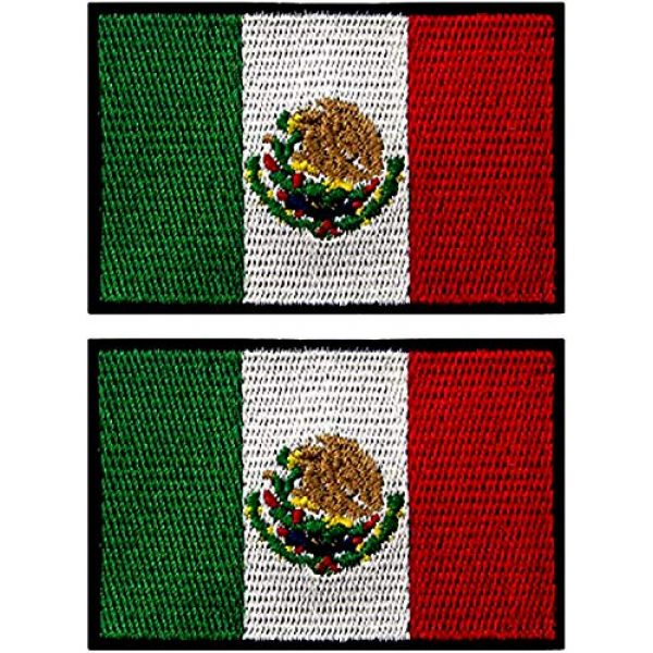 ebateck Airsoft Morale Patch 1 ebateck Country Flags Morale Patch for Backpacks, Tactical Patches for Hat Vest with Keychain (US-Law-2-Pack)