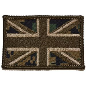 Tactical Gear Junkie Airsoft Morale Patch 1 Union Jack United Kingdom British Flag 2x3 Patch - Multiple Colors (Woodland Digital Marpat)