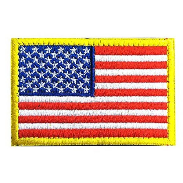 Antrix Airsoft Morale Patch 2 American US Tactical Patch, Antrix 6 Pack USA Flag California Flag Texas Flag Fully Embroidered Patches Tactical Badge Emblem Tags Patch