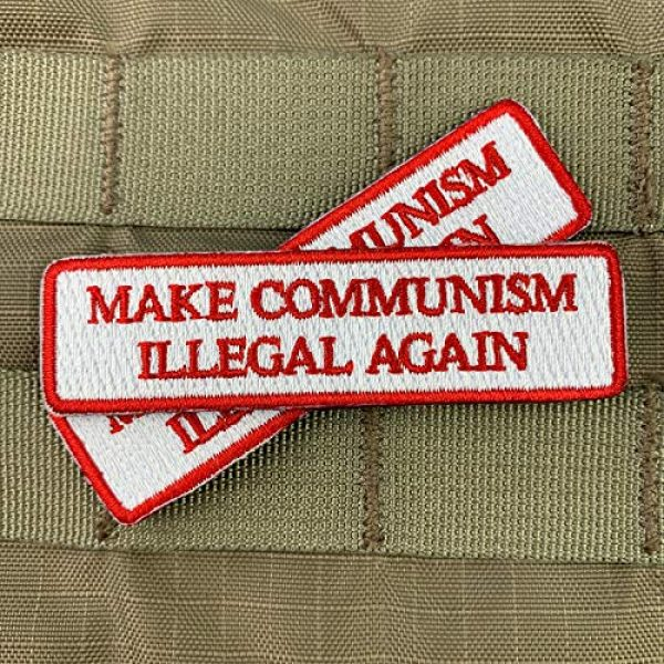 Violent Little Machine Shop Airsoft Morale Patch 3 Make Communism Illegal Again Embroidered Morale Patch