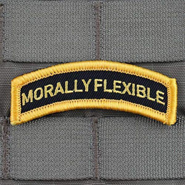 """Violent Little Machine Shop Airsoft Morale Patch 1 """"Morally Flexible"""" Morale Patch by Violent Little Machine Shop - Velcro"""