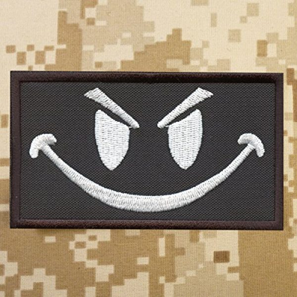 LEGEEON Airsoft Morale Patch 2 LEGEEON Smiley Evil Angry Morale Military Milspec Tactical ISAF SWAT Touch Fastener Patch