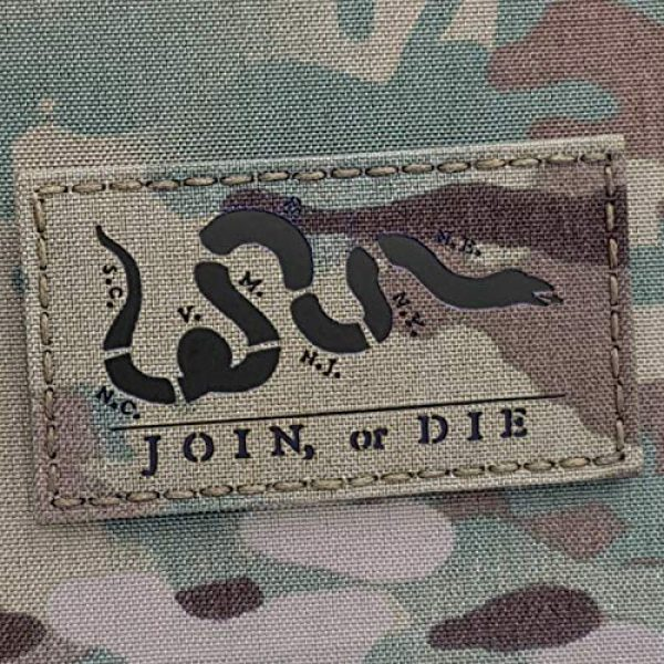 Tactical Freaky Airsoft Morale Patch 2 Multicam IR Join Or Die 2x3.5 Snake Cartoon Benjamin Franklin US Independence Tactical Morale Hook-and-Loop Patch