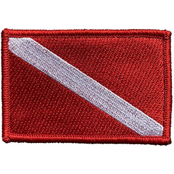 """Gadsden and Culpeper Airsoft Morale Patch 1 2"""" x 3"""" Diver Down Flag - Tactical Morale Patch"""