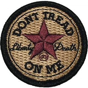 F-Bomb Morale Gear Airsoft Morale Patch 1 Don't Tread On Me - All Star - Embroidered Morale Patch - Arid Desert