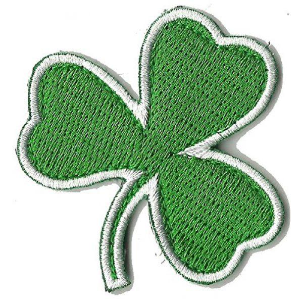 "Gadsden and Culpeper Airsoft Morale Patch 1 Die Cut Irish Clover Tactical Patch 2""x2"""