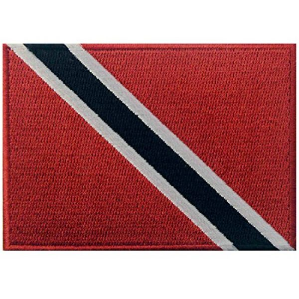 EmbTao Airsoft Morale Patch 1 Trinidad and Tobago Flag Embroidered Patch Caribbean Iron On Sew On National Emblem