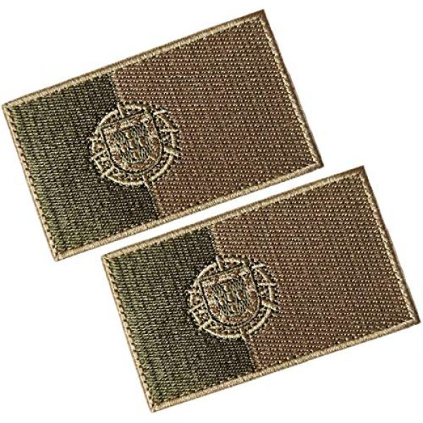 HFDA Airsoft Morale Patch 1 HFDA 2 Piece Different Country Flags Patch - Tactical Combat Military Hook and Loop Badge Embroidered Morale Patch (Portugal 1)