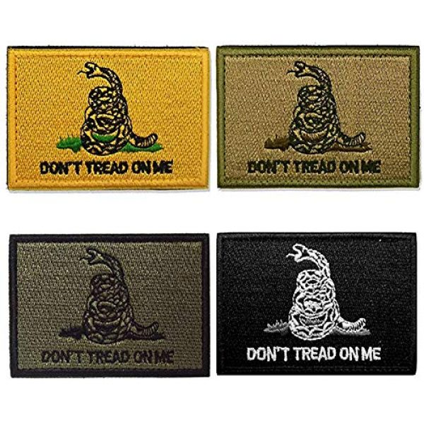 Axe Sickle Airsoft Morale Patch 1 AxeSickle 2x3 Inch Don't Tread on me Embroidered Patch American Flag Patch Tactical Military Morale Patch 4 Pcs.