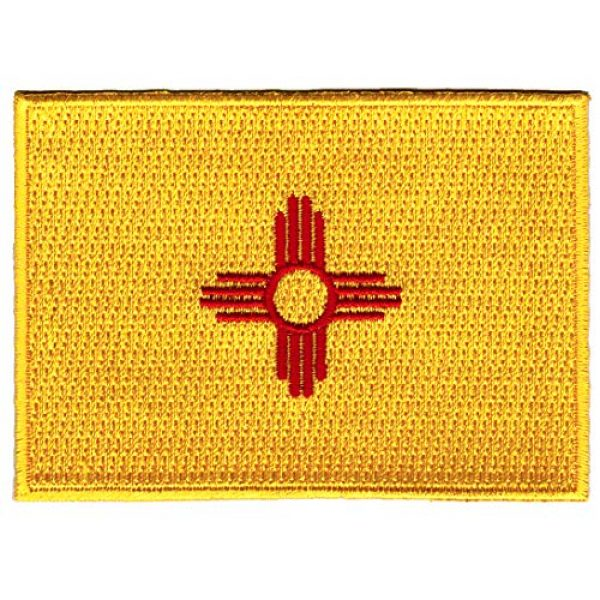 Cypress Collectibles Embroidered Patches Airsoft Morale Patch 1 New Mexico State Flag Embroidered Patch Iron-On NM Emblem Yellow