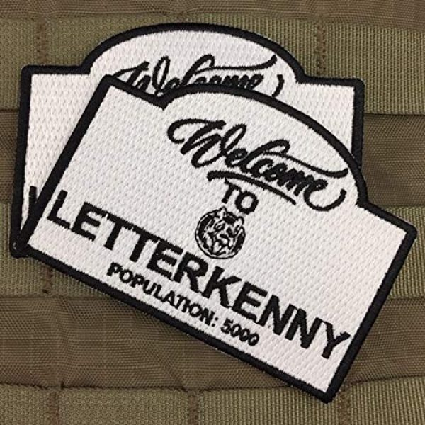 Violent Little Machine Shop Airsoft Morale Patch 3 Violent Little Machine Shop 'Welcome To Letterkenny' Embroidered Morale Patch