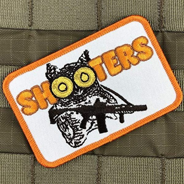 Violent Little Machine Shop Airsoft Morale Patch 2 Shooters Morale Patch by Violent Little Machine - Tactical Velcro Embroidered
