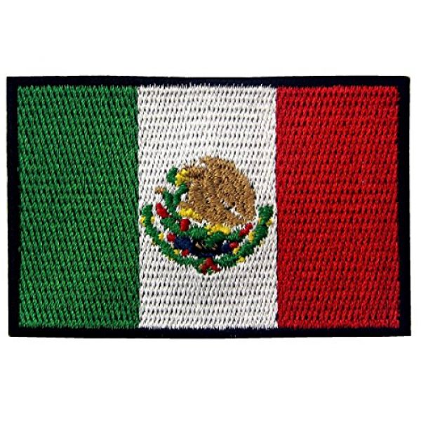 EmbTao Airsoft Morale Patch 1 EmbTao Patches Mexico Flag Embroidered Mexican Applique Hook & Loop National Emblem