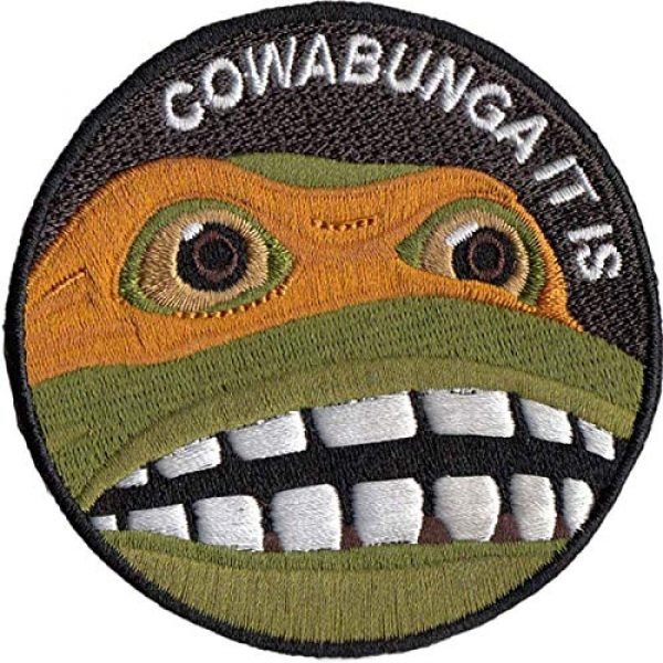 CowaBunga Airsoft Morale Patch 1 Cowabunga It is Embroidered Hook-Backed Morale Patch, Embroidered Patch Sew on Appliques Decorate Badge Hook-Backed Morale Patches Emblem DIY Accessories 3 Inch