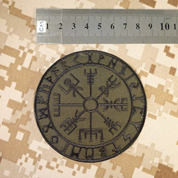 LEGEEON Airsoft Morale Patch 3 LEGEEON Olive Drab Vegvisir Viking Compass OD Green Norse Rune Morale Tactical Sew Iron on Patch