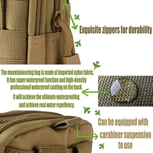Abcsea Tactical Pouch 5 Abcsea Canvas Outdoor Tactical Wallets, Holster Military Molle Hip Waist Belt Bag Wallet Pouch Purse Phone Case with Zipper for iPhone 7 6s Plus 5S Samsung Galaxy S7 S6 LG HTC and More