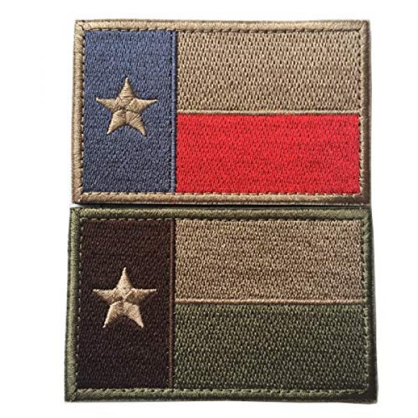 """Hng Kiang Hu Airsoft Morale Patch 1 Bundle 2 Pieces - Tactical American US Texas State Lonely Star Flag Patch Morale Patch-Hook & Loop Fastener Morale 2"""" High by 3"""" Wide"""
